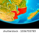 mozambique from orbit of planet ... | Shutterstock . vector #1036703785