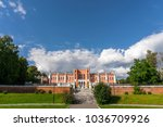 the palace in the gothic style... | Shutterstock . vector #1036709926