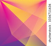3d colorful wave background.... | Shutterstock .eps vector #1036711636