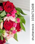 bouquet of red and pink roses | Shutterstock . vector #1036712608