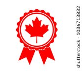 icon maple leaf medal. maple... | Shutterstock .eps vector #1036713832
