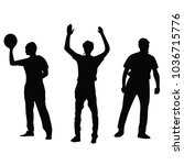 referee hold the basketball... | Shutterstock .eps vector #1036715776