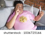 picture of greedy person feels... | Shutterstock . vector #1036725166