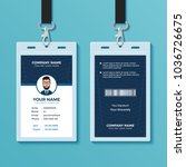modern and clean id card design ... | Shutterstock .eps vector #1036726675