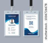modern clean id card template | Shutterstock .eps vector #1036726678