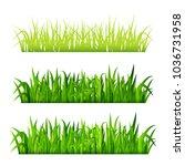 green grass borders set... | Shutterstock .eps vector #1036731958