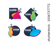 vector collection of fashion... | Shutterstock .eps vector #1036737772