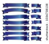 blue ribbons banner on white... | Shutterstock .eps vector #1036738138