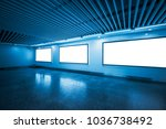 empty hall with some blank... | Shutterstock . vector #1036738492