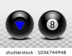 two magic balls of predictions... | Shutterstock .eps vector #1036744948