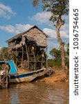 Small photo of Kampong Phluk, Siem Reap Province, Cambodia - November 27 2015 : xxxxx in the floating village at the Tonle Sap Lake