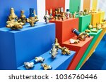 taps valves and fittings on... | Shutterstock . vector #1036760446
