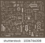 vector illustration of arrow... | Shutterstock .eps vector #1036766308