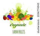 vector illustration of fruits... | Shutterstock .eps vector #1036774945