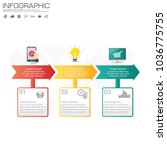 3 parts infographic design... | Shutterstock .eps vector #1036775755