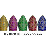 colorful moroccan style shoes... | Shutterstock . vector #1036777102