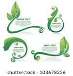 vector collection of leaf ... | Shutterstock .eps vector #103678226