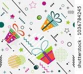 trendy seamless memphis style... | Shutterstock .eps vector #1036784245