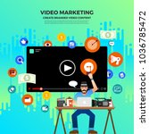 flat design vlog concept....   Shutterstock .eps vector #1036785472