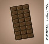 vector delicious realistic dark ... | Shutterstock .eps vector #1036787902