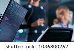 monitor showing ekg reading of... | Shutterstock . vector #1036800262