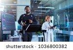 male athlete walks on a... | Shutterstock . vector #1036800382