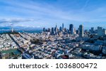 the financial district of... | Shutterstock . vector #1036800472