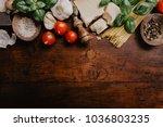 top view of different... | Shutterstock . vector #1036803235