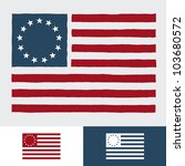 original vintage american flag... | Shutterstock .eps vector #103680572