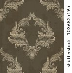 damask pattern antique ornament ... | Shutterstock .eps vector #1036825195