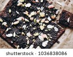 dehydrated chocolate brownies ...   Shutterstock . vector #1036838086