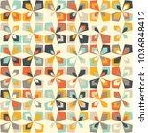 midcentury geometric retro...   Shutterstock .eps vector #1036848412
