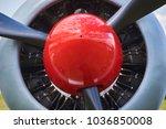 old ww2 propeller fighter... | Shutterstock . vector #1036850008