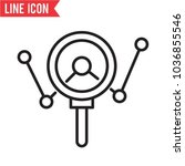 analysing vector icon | Shutterstock .eps vector #1036855546