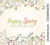 fresh modern design card of... | Shutterstock .eps vector #1036856692