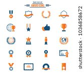 award and honor icon set | Shutterstock .eps vector #1036858672