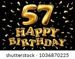 vector happy birthday 57th... | Shutterstock .eps vector #1036870225