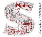 vector conceptual social media... | Shutterstock .eps vector #1036870966