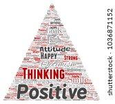 vector conceptual positive... | Shutterstock .eps vector #1036871152