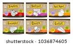 set colorful food labels ...   Shutterstock .eps vector #1036874605