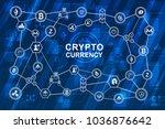 cryptocurrency vector... | Shutterstock .eps vector #1036876642
