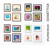 set of realistic minimal... | Shutterstock .eps vector #1036877518