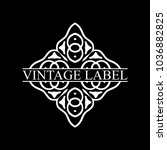 vintage ornamental retro label. ... | Shutterstock .eps vector #1036882825