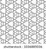 seamless geometric ornamental... | Shutterstock .eps vector #1036885036