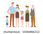 family characters creation set  ... | Shutterstock .eps vector #1036886212