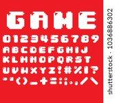 special strange fonts in vector   Shutterstock .eps vector #1036886302