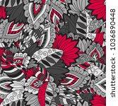 vector seamless hand draw...   Shutterstock .eps vector #1036890448