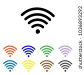 wifi icon. wireless sign vector.... | Shutterstock .eps vector #1036893292