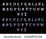 gothic font   stylized vector... | Shutterstock .eps vector #1036895236