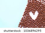 background of chocolate cereal... | Shutterstock . vector #1036896295